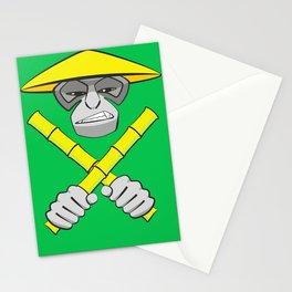 Gibbon Warrior Bamboo Stationery Cards