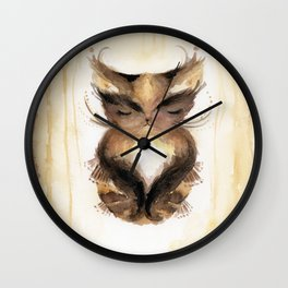 Chutney in a State of Yoga Wall Clock