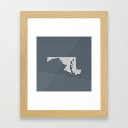 Maryland State Framed Art Print