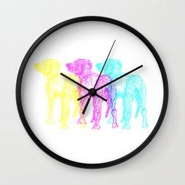 CMY-DOG Wall Clock