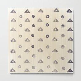 African mud cloth Scandinavian version Metal Print