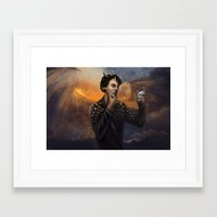 smaug Framed Art Prints featuring Smaug by Juli Grey