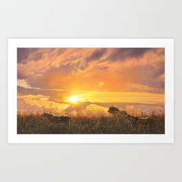 Sunset by Alan M Hunt Art Print