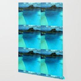 Bora Bora Lagoon Aerial Wallpaper