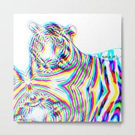 Tiger 3, glitched  Metal Print