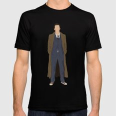 David Tennant as Dr Who MEDIUM Black Mens Fitted Tee