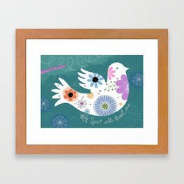 My Spirit Will Lead Me Framed Art Print