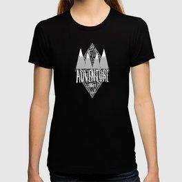 Black Teal & Gray Adventure Junkie T-shirt