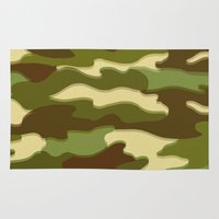 camo Area & Throw Rugs featuring CAMO by Bruce Stanfield