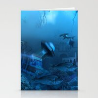 submarine Stationery Cards featuring Submarine by Misko Stanisic