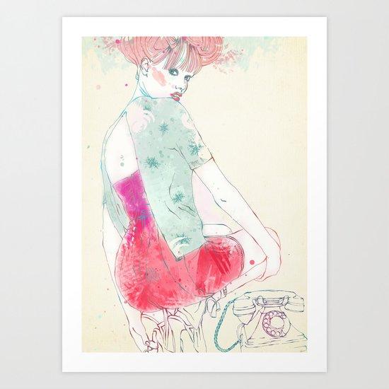 beautiful back Art Print