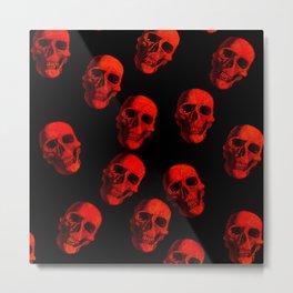 Skulls, red Metal Print