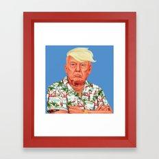 Hipstory -  Donald Trump Framed Art Print