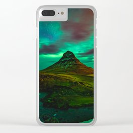 Lights over Kirkjufell Clear iPhone Case