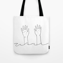 There She Goes Tote Bag