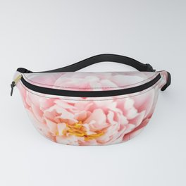 Peony Flower Photography, Pink Peony Floral Art Print Nursery Decor A happy life - Peonies 2 Fanny Pack