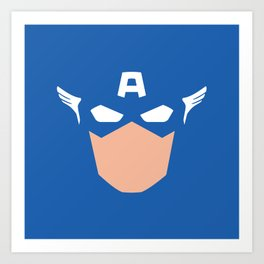 Superhero America Captain Art Print