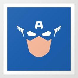 Superhero America Captain Art Print