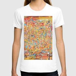 Orange Composition T-shirt