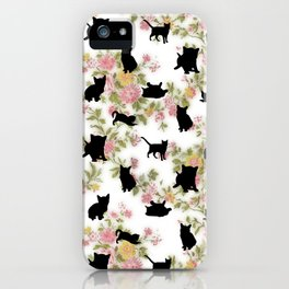 Kittens Floral iPhone Case