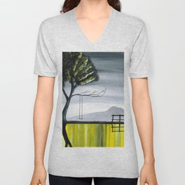 The Girl Without a Reflection Part 4 Unisex V-Neck