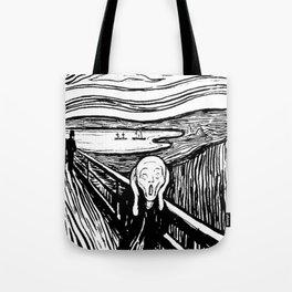 THE SCREAM - EDVARD MUNCH - LITHOGRAPH Tote Bag