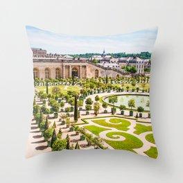 Versailles Gardens | Europe France Nature Landscape Travel Photography Throw Pillow
