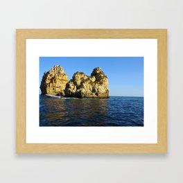 Water Rock  Framed Art Print