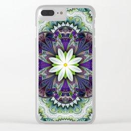 White Flower Garden Clear iPhone Case