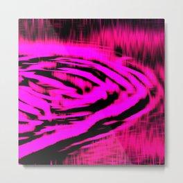 Electric Water - Neon Pink Metal Print