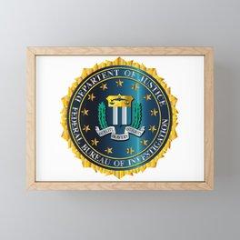 FBI Seal Mockup Framed Mini Art Print