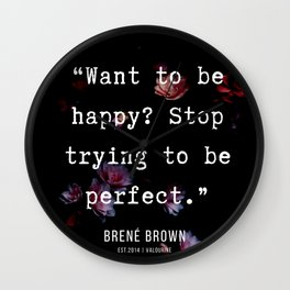30  | Brene  Brown Quotes  | 190717 | Wall Clock