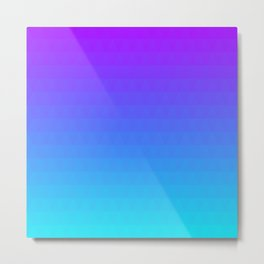 Blue and Purple Ombre - Flipped Metal Print