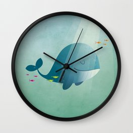 Whale print Wall Clock