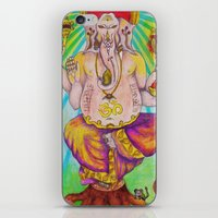 ganesha iPhone & iPod Skins featuring Ganesha by Lioz