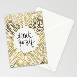 Treat Yo Self – Gold Stationery Cards