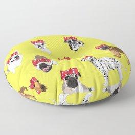 Political Pups-Register to Vote! Floor Pillow