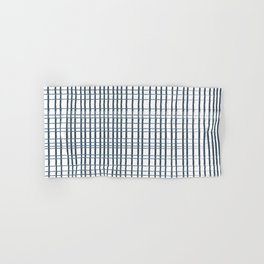 thin blue lines crosshatch Hand & Bath Towel