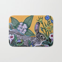 Rabbit Kickin' Back Bath Mat
