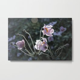 Bokeh Outline Bloom Metal Print