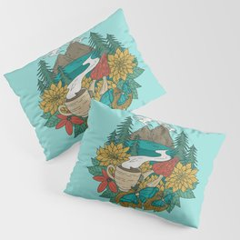 Pacific Northwest Coffee and Nature Pillow Sham
