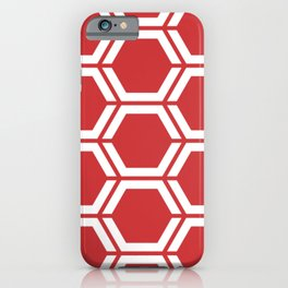 Madder Lake - red - Geometric Polygon Pattern iPhone Case
