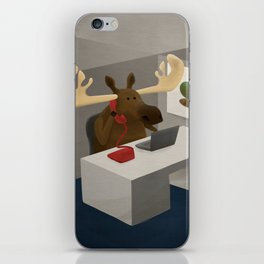 Maurice, the moose who wanted to work in an office iPhone Skin