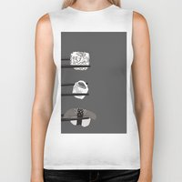 sushi Biker Tanks featuring Sushi! by Caitlin Krupinski