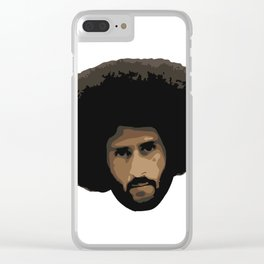 Colin Kaepernick Afro Clear iPhone Case