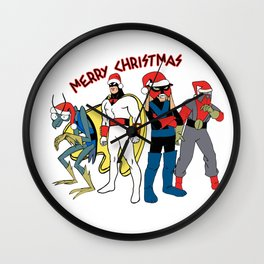Space Ghost Coast to Coast Merry Christmas Happy Holidays Gift Wall Clock