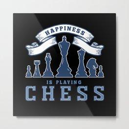 Chess, Chess Knight, Chess Pawn Metal Print