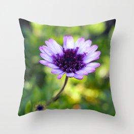 Purple flower in bloom Throw Pillow