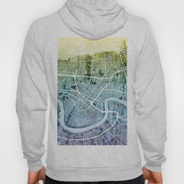 New Orleans City Map Hoody