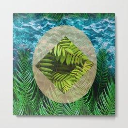 Underwater Tropical Surrounding Metal Print